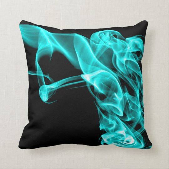 Modern Turquoise Pillows : Turquoise Black Modern Design Pillow Cushion Zazzle.com