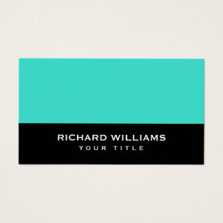 Turquoise black modern generic personal profile business card