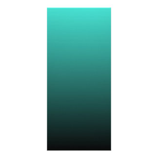 Turquoise Black Ombre Rack Card