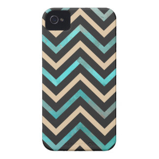 Turquoise Black Tan Chevron Case-Mate iPhone 4 Cases