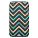 Turquoise Black Tan Chevron iPod Case-Mate Cases