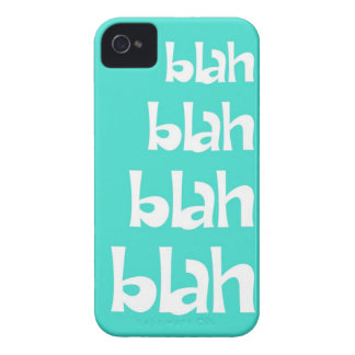 Turquoise Blah Blah Blah iPhone 4s Case