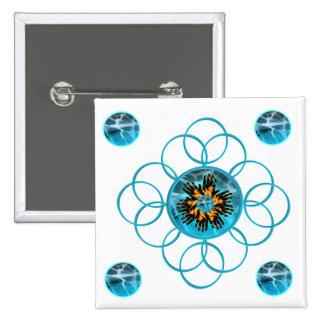 Turquoise Blaze Starburst Pin