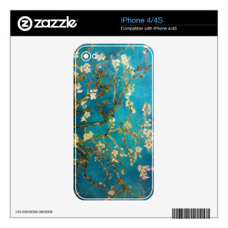 Turquoise Blossoming Almond Branch Decal For The iPhone 4S