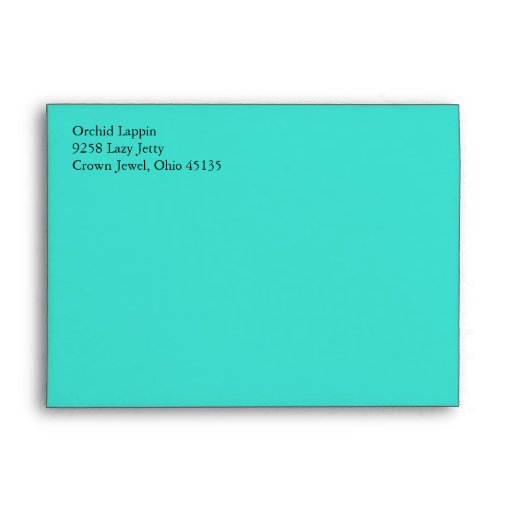 Turquoise Blue A7 Envelopes With Return Address