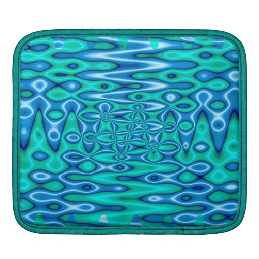 turquoise blue abstract sleeves for iPads