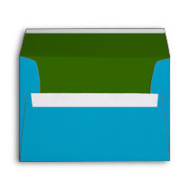 Turquoise Blue and Green Envelope