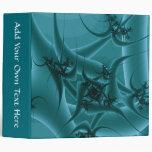 Turquoise Blue and Teal Fractal Art Design. Vinyl Binders