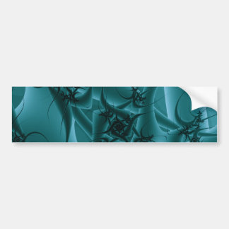 Turquoise Blue and Teal Fractal Art Design. Bumper Stickers