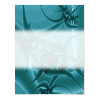 Turquoise Blue and Teal Fractal Art Design. Card