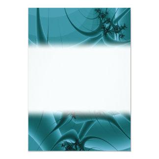 Turquoise Blue and Teal Fractal Art Design. Card