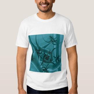 Turquoise Blue and Teal Fractal Art Design. Shirt