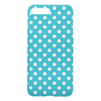 Turquoise Blue and White Polka Dot Pattern iPhone 8 Plus/7 Plus Case