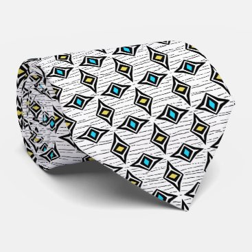 Professional Business Turquoise blue and yellow diamond gems neck tie