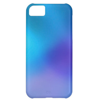 Turquoise Blue Aqua and Blue Violet Abstract Art Case For iPhone 5C
