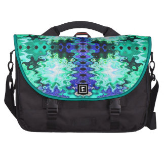 Turquoise Blue Astract Bags For Laptop