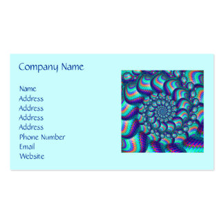 Turquoise Blue Balls Fractal Pattern Business Cards