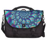 Turquoise Blue Balls Fractal Pattern Laptop Bags