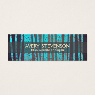 Eastern business cards templates zazzle turquoise blue bamboo nature health spa wood mini business card reheart Image collections