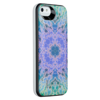 Turquoise Blue Beautiful Abstract iPhone SE/5/5s Battery Case