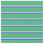 [ Thumbnail: Turquoise, Blue, Beige & Sea Green Stripes Fabric ]