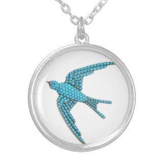 Turquoise Blue Bird Vintage Costume Jewelry Charm