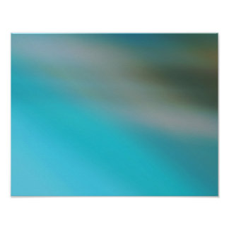 Turquoise Blue & Brown #1 Modern Abstract Poster