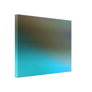 Turquoise Blue Brown and Gray #2 Modern Abstract Canvas Print