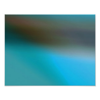 Turquoise Blue Brown and Gray 2 Modern Abstract Poster