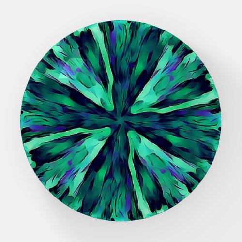 Turquoise Blue Burst Paperweight