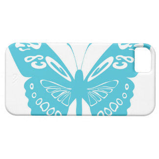 Turquoise Blue Butterfly Lace Wings iPhone 5s Case iPhone 5 Case