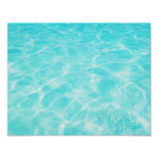 Turquoise Blue Carribean Ocean Water Beach Poster
