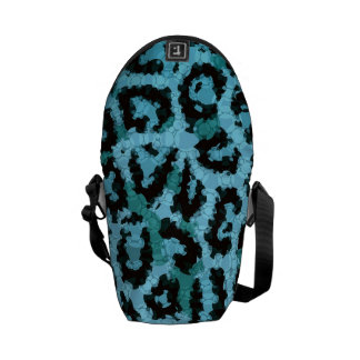 Turquoise Blue Cheetah Abstract Pattern Courier Bag