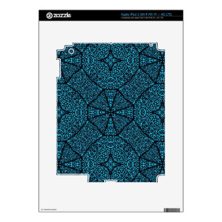 Turquoise Blue Cheetah Abstract iPad 3 Decal