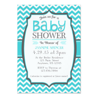 turquoise and gray baby shower invitations turquoise and gray baby