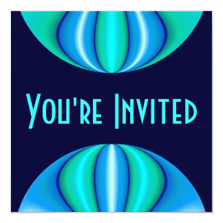 turquoise blue circle card