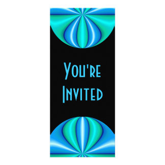 turquoise blue circle custom invites