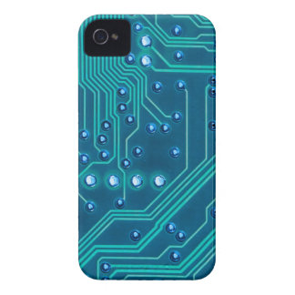 Turquoise Blue Circuit Board - Electronic Print Case-Mate iPhone 4 Case