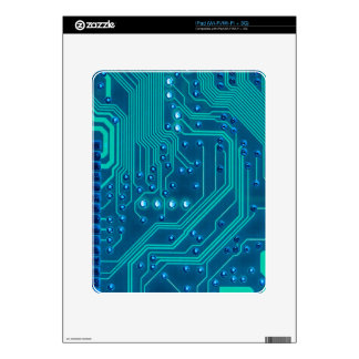 Turquoise Blue Circuit Board - Electronic Print Decals For The iPad