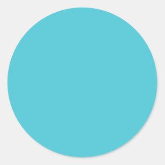 Turquoise Blue Classic Round Sticker