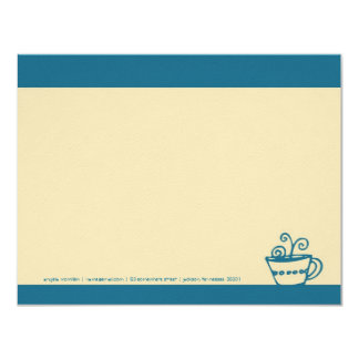 Turquoise Blue Coffee Cup Note Cards