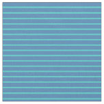 [ Thumbnail: Turquoise & Blue Colored Lines Fabric ]