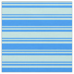 [ Thumbnail: Turquoise & Blue Colored Pattern of Stripes Fabric ]