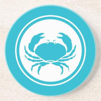 Turquoise Blue crab Marine Creature coaster
