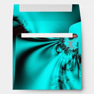 Turquoise Blue Design Envelope