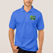 Turquoise Blue Discus Polo Shirt