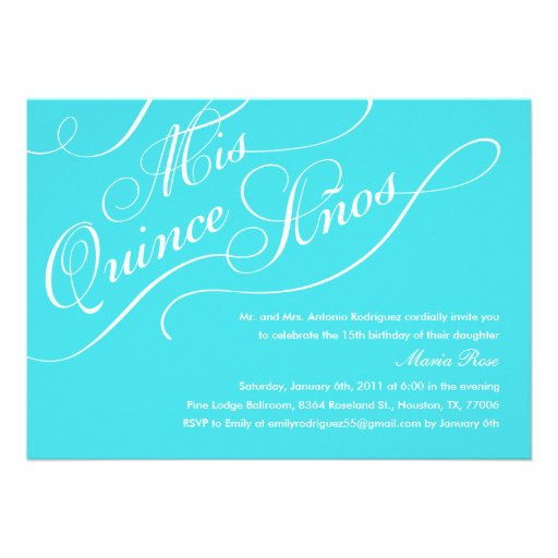 Elegant Quinceanera Invitations for your inspiration to make invitation template look beautiful
