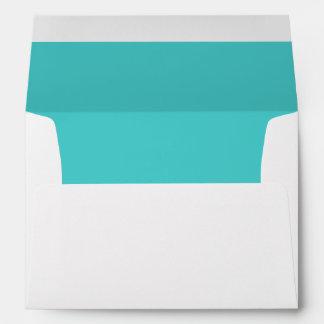 Turquoise Blue Envelope
