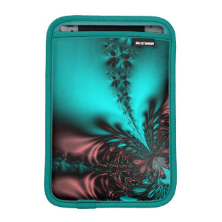 Turquoise Blue Fractal Sleeve For iPad Mini