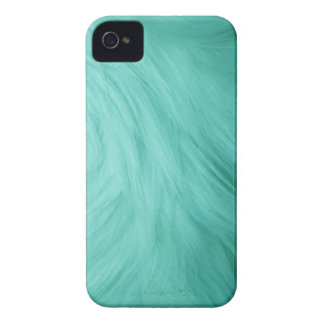 Turquoise blue fur feathery image, iPhone 4/4s Case-Mate iPhone 4 Case
